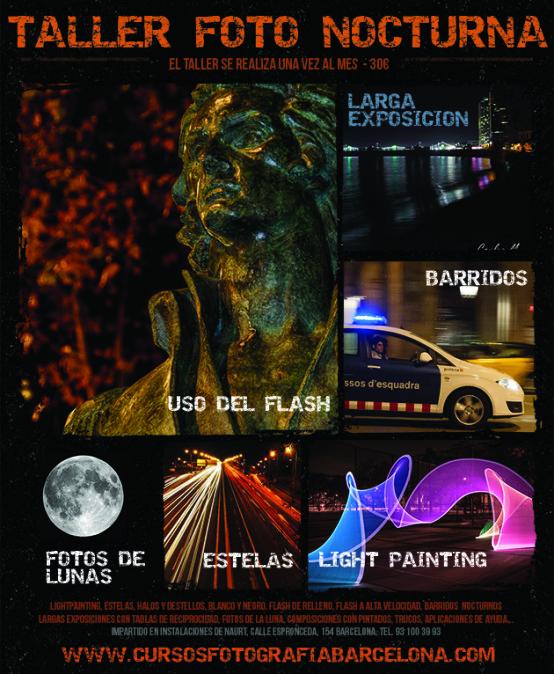 Taller de fotografía nocturna Barcelona