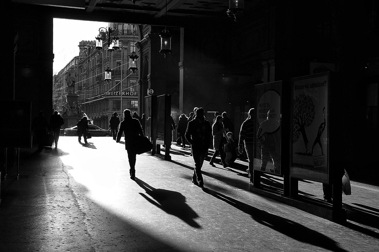 Sombras de contraluz. Cursos fotografía Barcelona